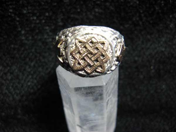 Кольцо Звезда Руси с рунами